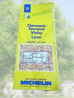 carte michelin clermont-ferrand vichy lyon